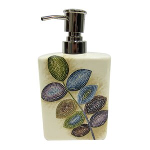 oil rubbed bronze bathroom accessories. Mosaic Leaves Soap Dispenser Bronze Bathroom Accessories You ll Love  Wayfair