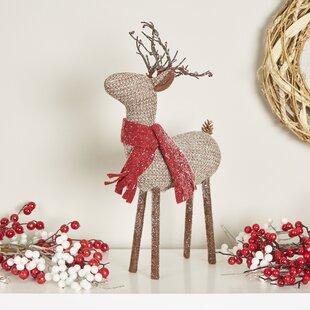 glittering reindeer decor