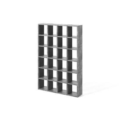 Brayden Studio Ottley Composition Cube Unit Bookcase Finish: Concrete