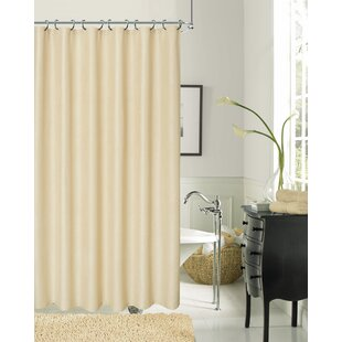 White Textured Shower Curtain