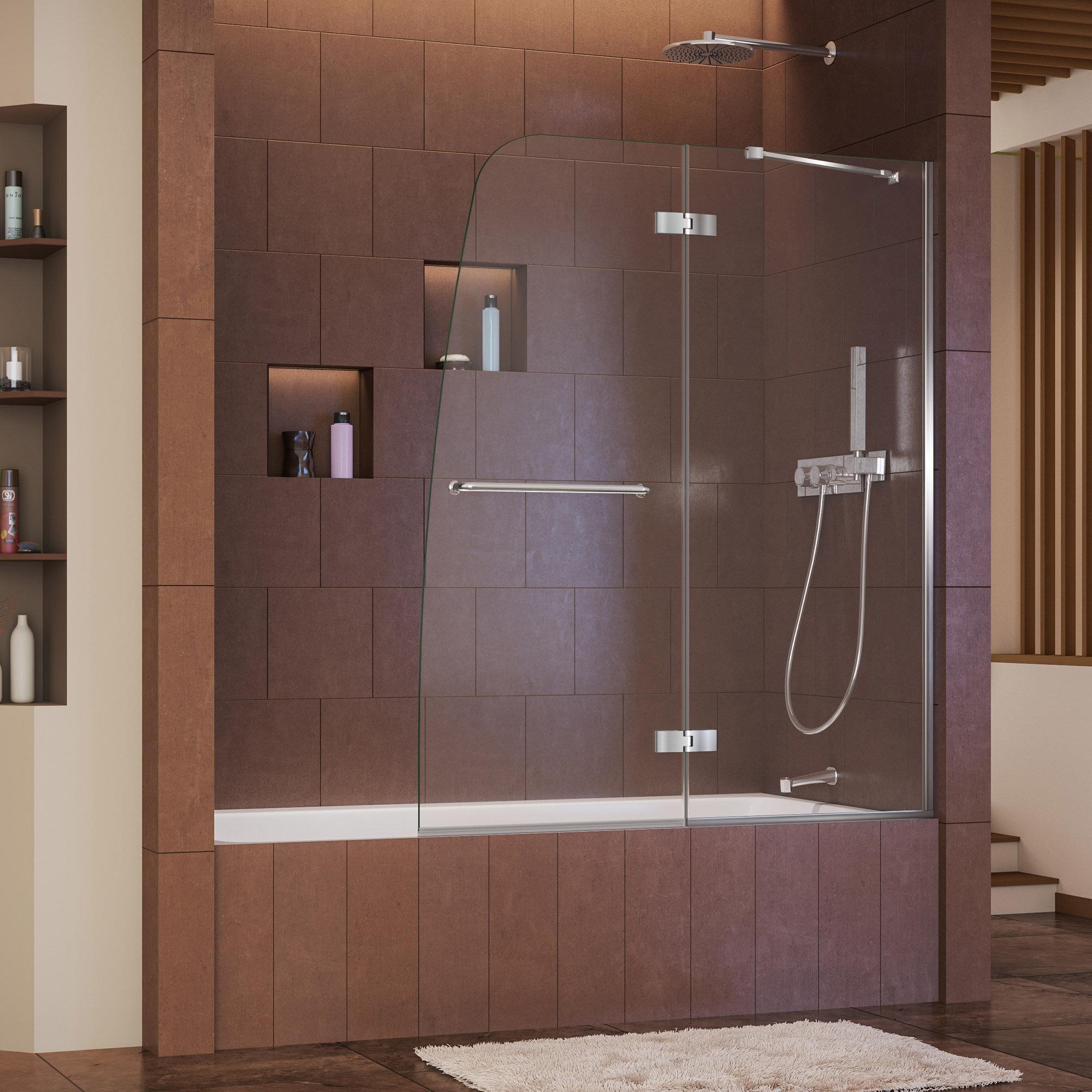 Dreamline Aqua Ultra 48 X 58 Hinged Frameless Tub Door Reviews