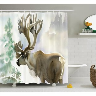 Bear Moose Shower Curtain
