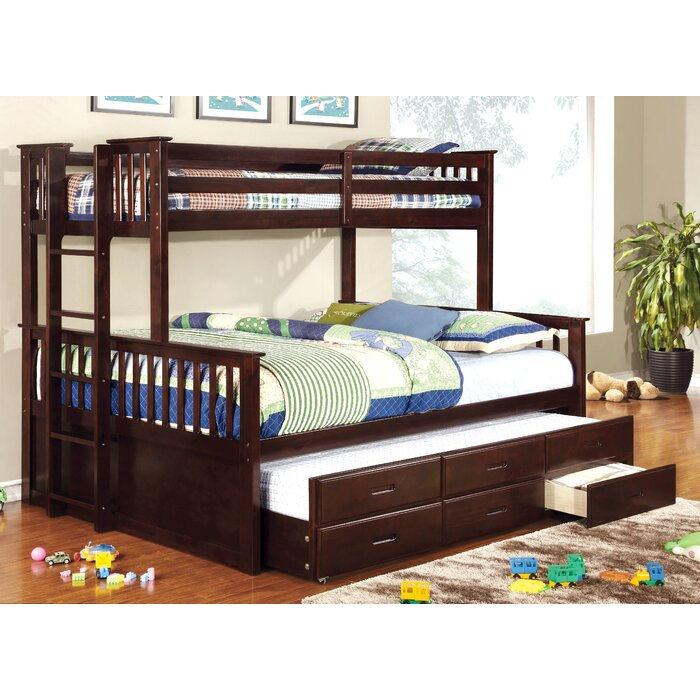 Viv + Rae Sandra Twin Over Queen Bunk Bed With Trundle & Reviews ...