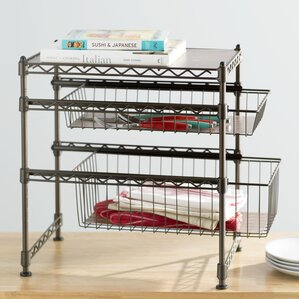 kitchen cabinets baskets cabinet organizers you ll wayfair 2888