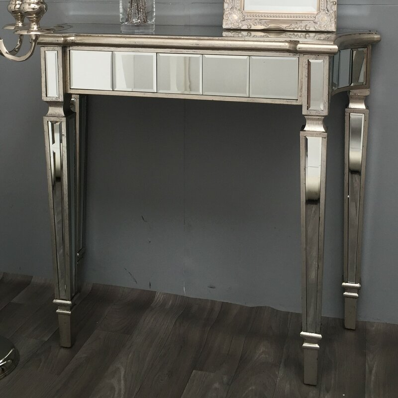 Elegant Vintage Mirrored Console Table   Alterton Vintage Mirrored Console Table U0026  Reviews Wayfair.co.