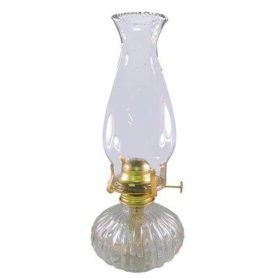 Ellipse Glass Hurricane Oil Lamp
