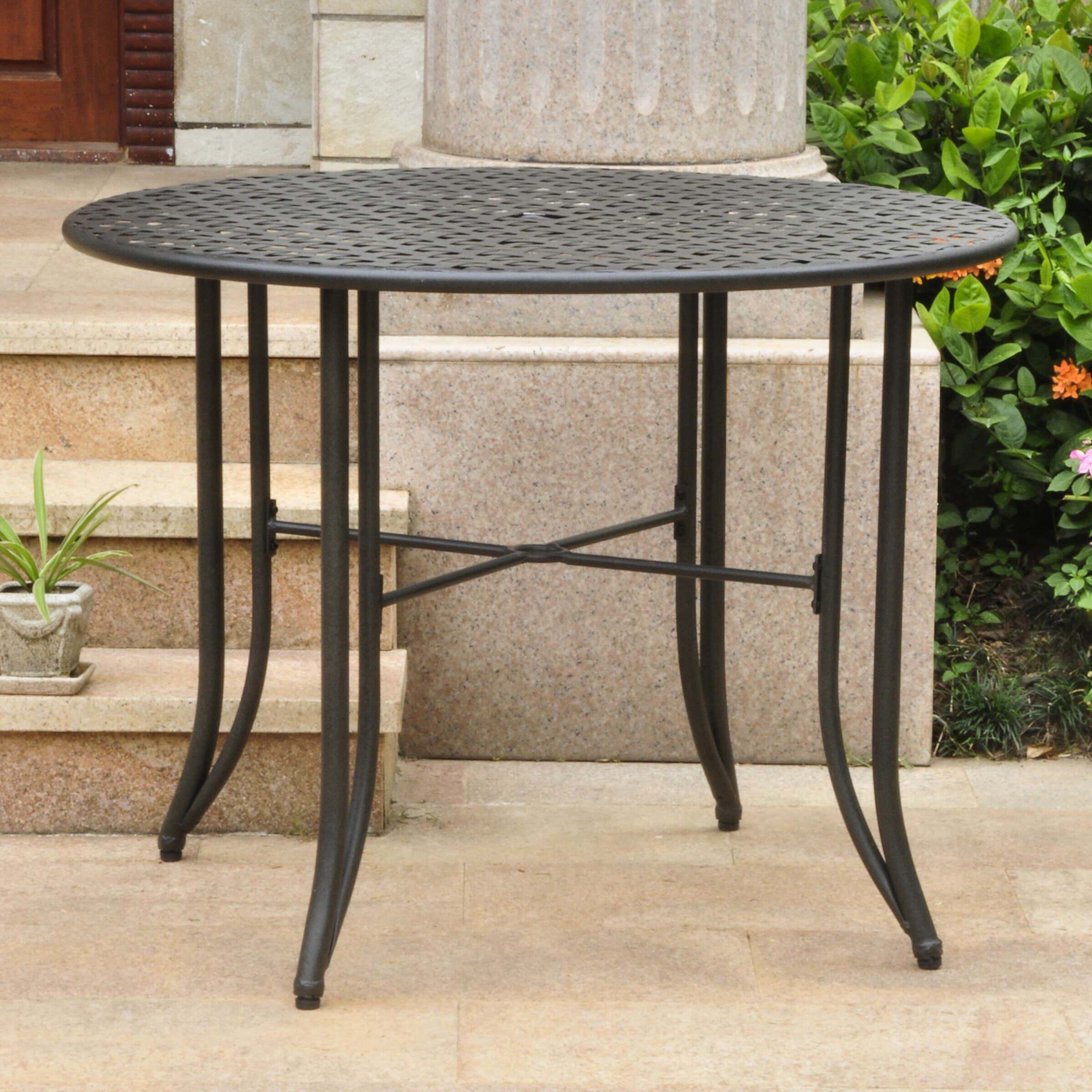 "Darby Home Co Doric Iron 39"" Round Patio Dining Table & Reviews"