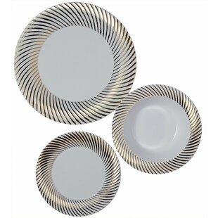 Shorey Swirl Heavy Duty 75 PiecePremium Dinnerware  sc 1 st  Wayfair & Ciroa Dinner Plates Dinnerware Sets | Wayfair