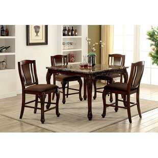 Dozier 5 Piece Counter Height Dining Set