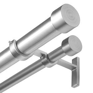 Exceptional Cappa Solutions Double Curtain Rod And Hardware Set
