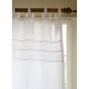 Elisa Solid Sheer Tab Top Curtain Panel