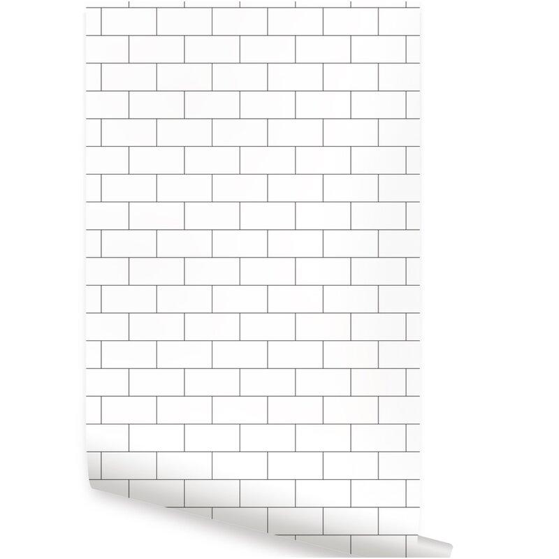 Maverick 48 L X 24 W Brick And Stick Wallpaper Tile