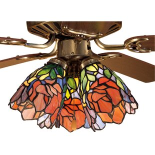 Ceiling fan with stained glass wayfair iris 5 glass bowl ceiling fan fitter shade aloadofball Images