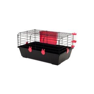 Folding Rabbit Cage in Black by Voltrega