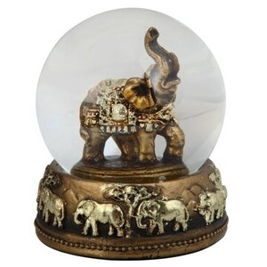 Thai Elephant Snow Globe
