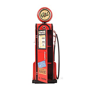 Decorative Gas Pump With Clock 1 4