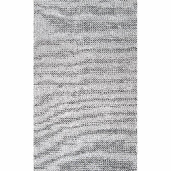 Makenzie Woolen Cable Hand Woven Light Gray Area Rug Reviews Joss Main