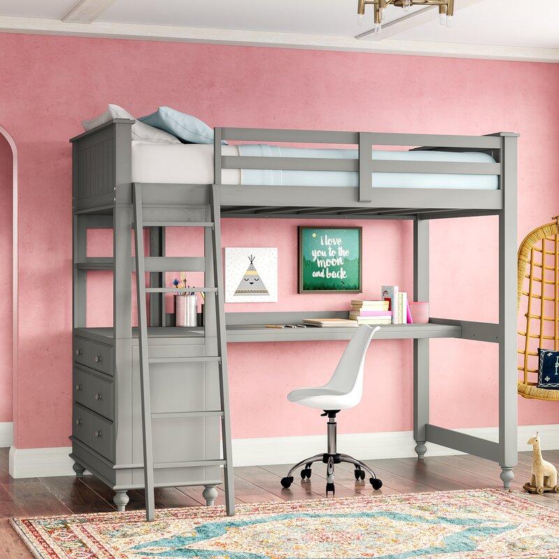 detailed look 2de2f 24ec1 Nickelsville Loft Bed With Desk