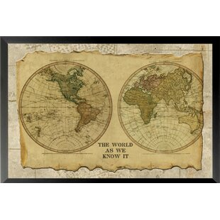 Framed antique maps wayfair antique map i framed graphic art print gumiabroncs Image collections