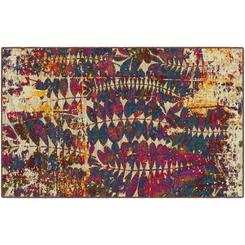 Ivy Bronx Carnanreagh Pink/Beige Area Rug, Size: Rectangle 76 x 10