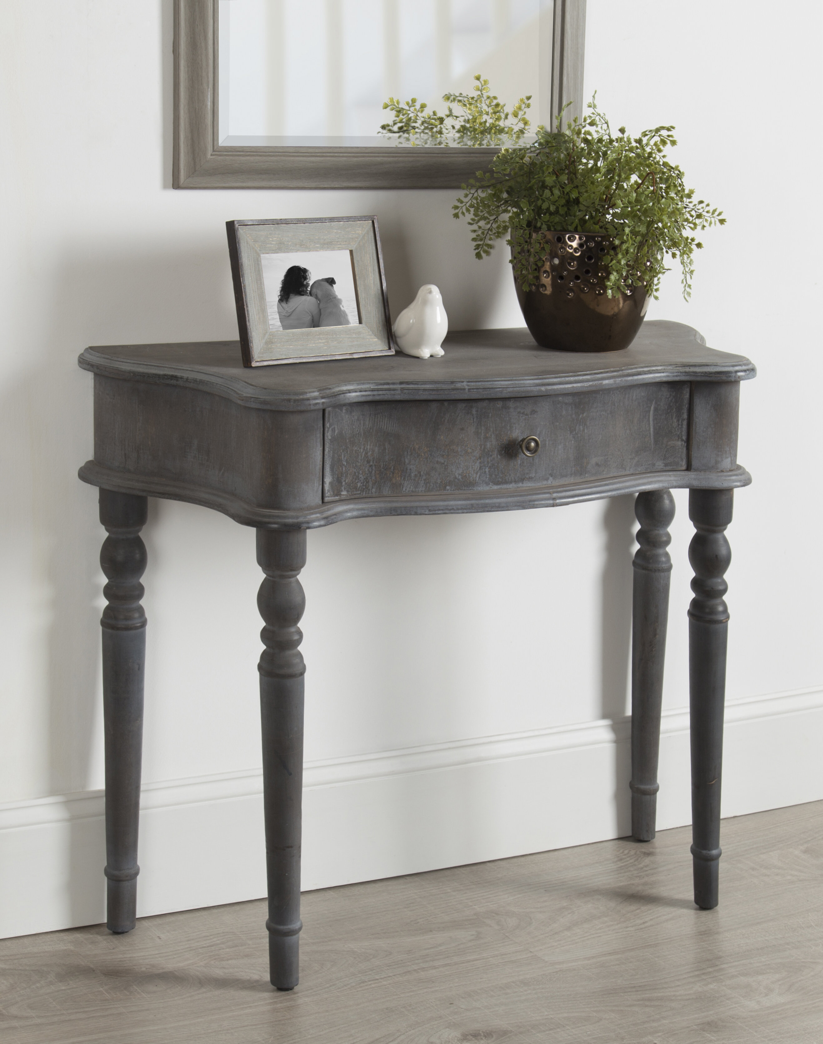 Wadley Country French Wood Console Table