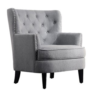 Merveilleux Light Grey Wingback Chair | Wayfair