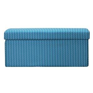 Crayola LLC Serpentine Stripe Cerulean Box Ottoman