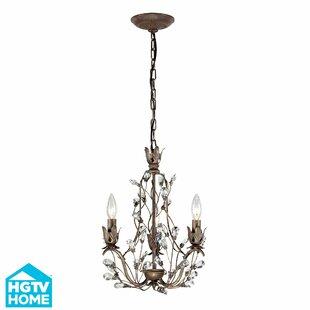 Vine chandelier wayfair creed 3 light crystal chandelier aloadofball Image collections