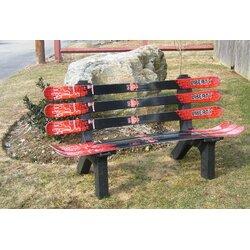 Ski Chair Snow Board Recycled Plastic Garden Bench U0026 Reviews | Wayfair