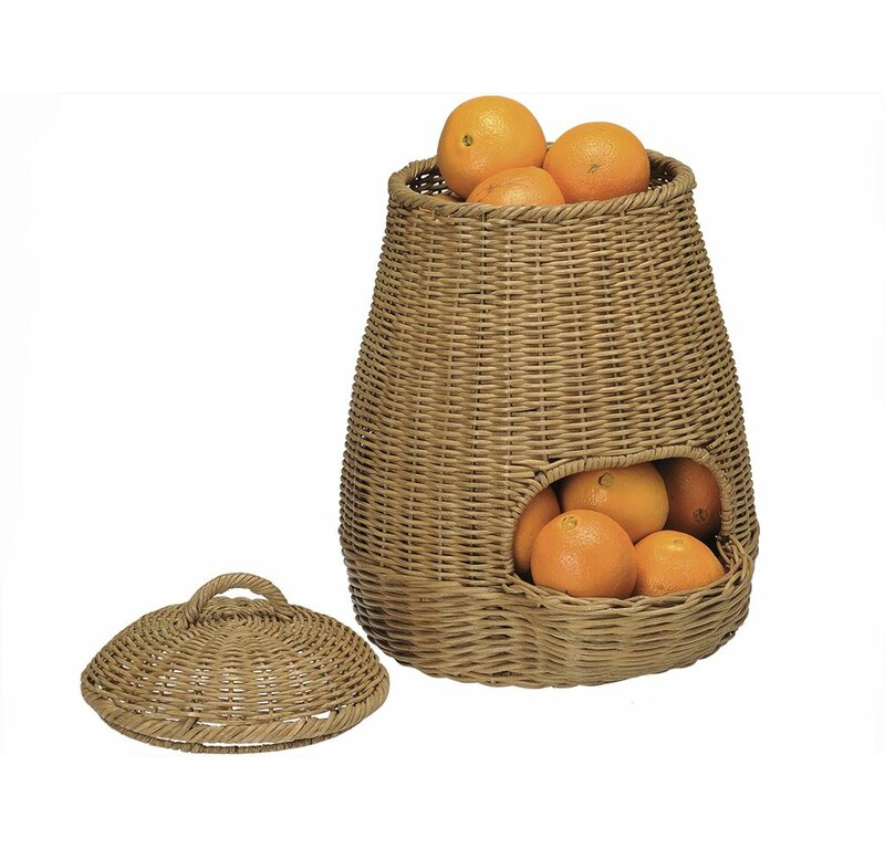 Good Wicker Potato And Onion   Fruit And Vegetable Storage Basket