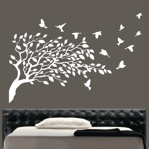 Flying Birds And Tree Wall Sticker Part 68