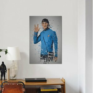 'Pop Culture Splatter Series: Live Long and Prosper' Graphic Art Print on Wrapped Canvas