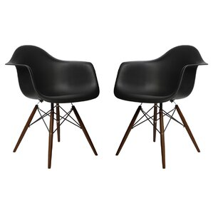 Hamburg Contemporary Solid Wood Dining Chair (Set of 2) by George Oliver