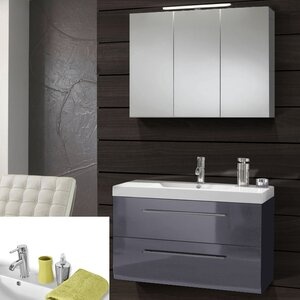 SAM Stil Art Möbel GmbH Wandmontierter Waschtisch Zypern mit Spiegel und Armatur