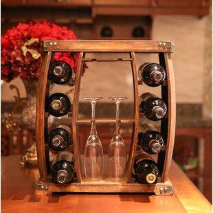 Gullion Rustic Wooden 8 Bottle Floor Wine Rack 2019 Sale