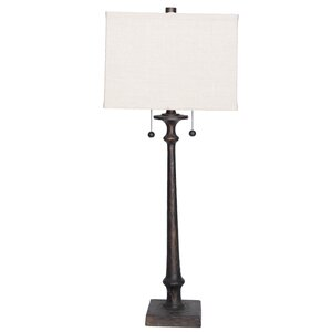 Resin Candlestick 33.5″ Table Lamp