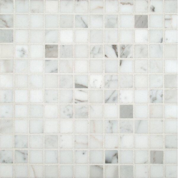 Msi Calacatta Gold 1 X Marble Mosaic Tile In White Reviews Wayfair