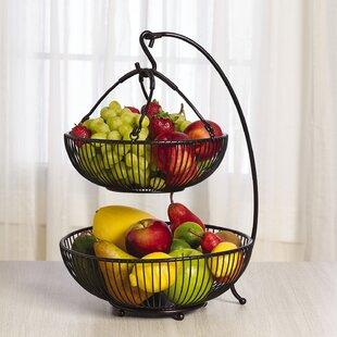 Spindle 2 Tier Adjule Basket With Banana Hook
