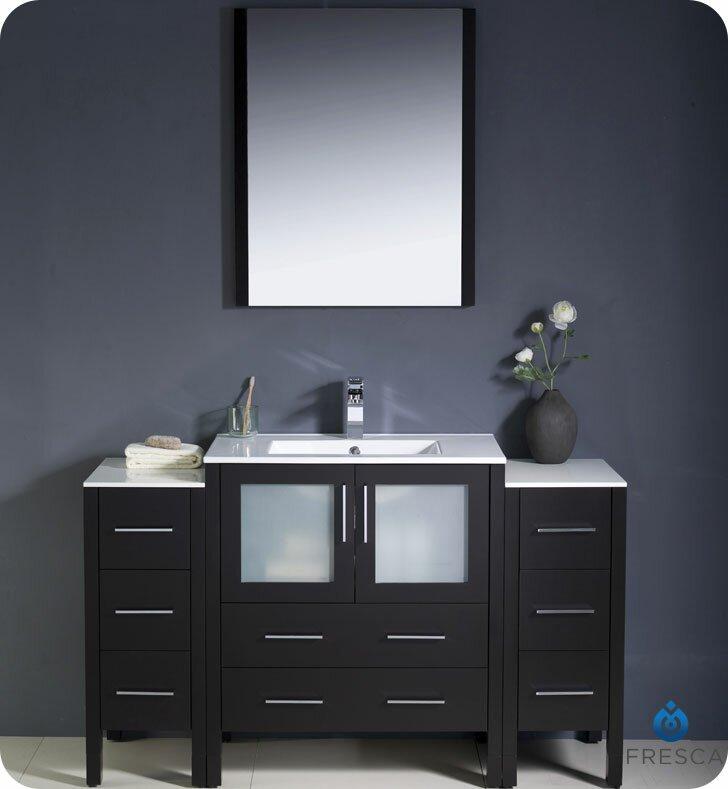 Torino 54 Single Bathroom Vanity Set With Mirror