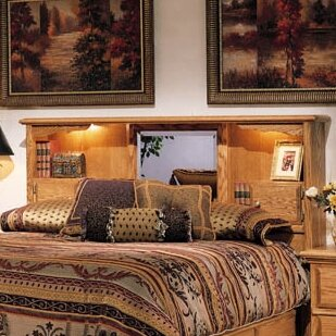 Bookcase Headboard With Lights
