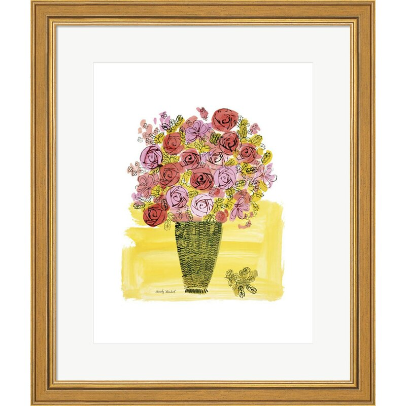 Basket Of Flowers 1958 By Andy Warhol Framed Graphic Art Print