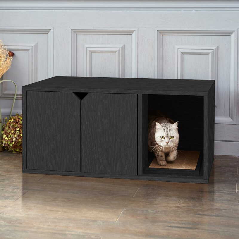litter box furniture cat enclosed covered. modern cat litter box furniture enclosed covered