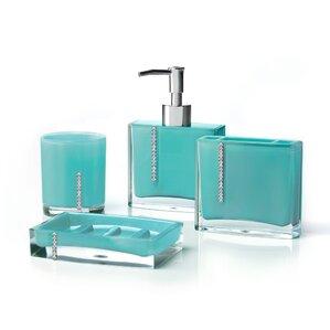 Cristal 4 Piece Bathroom Accessory Set
