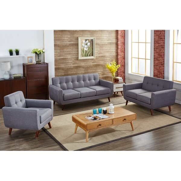 langley street magic 3 piece living room set & reviews | wayfair