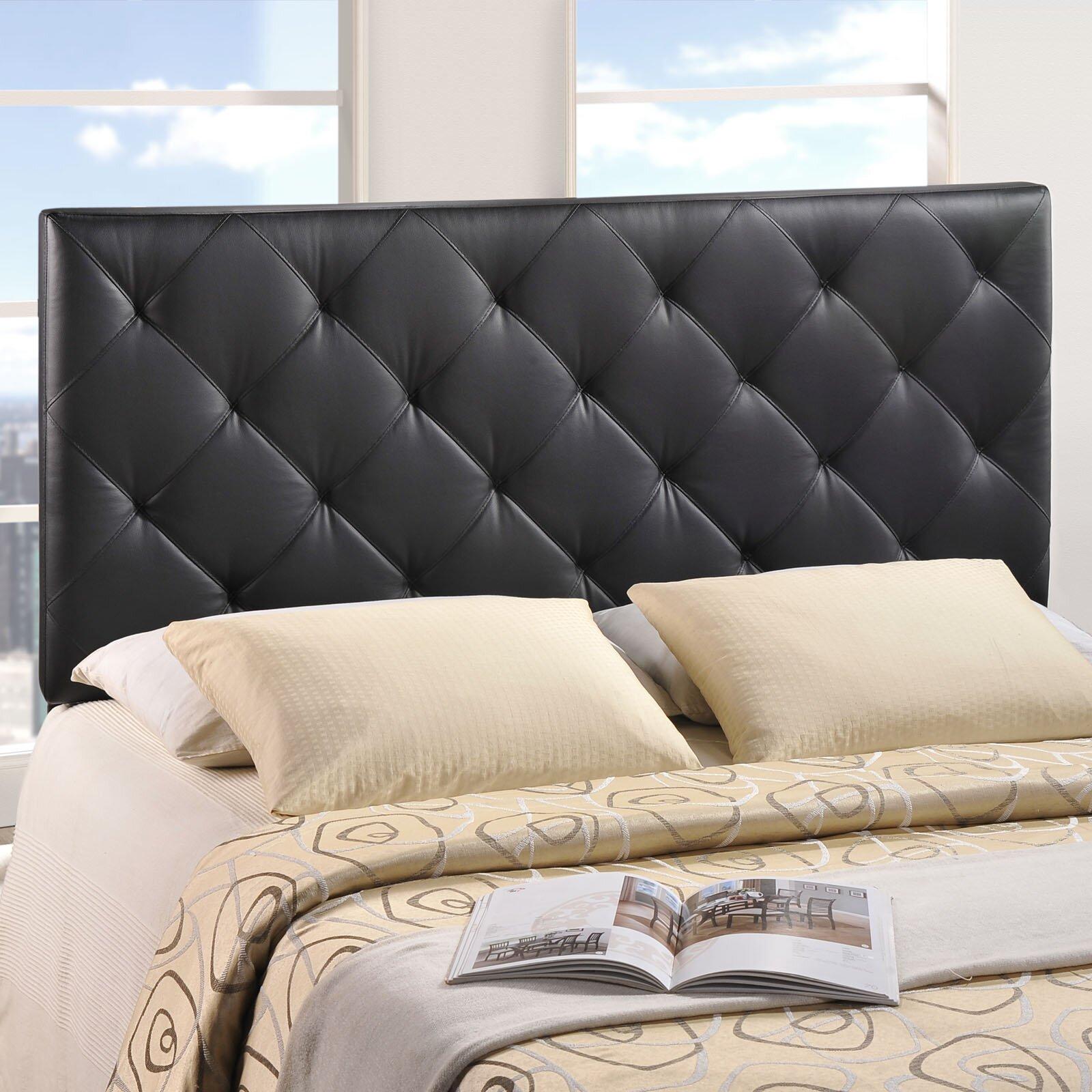 Bed headboard upholstered - Theodore Queen Upholstered Panel Headboard