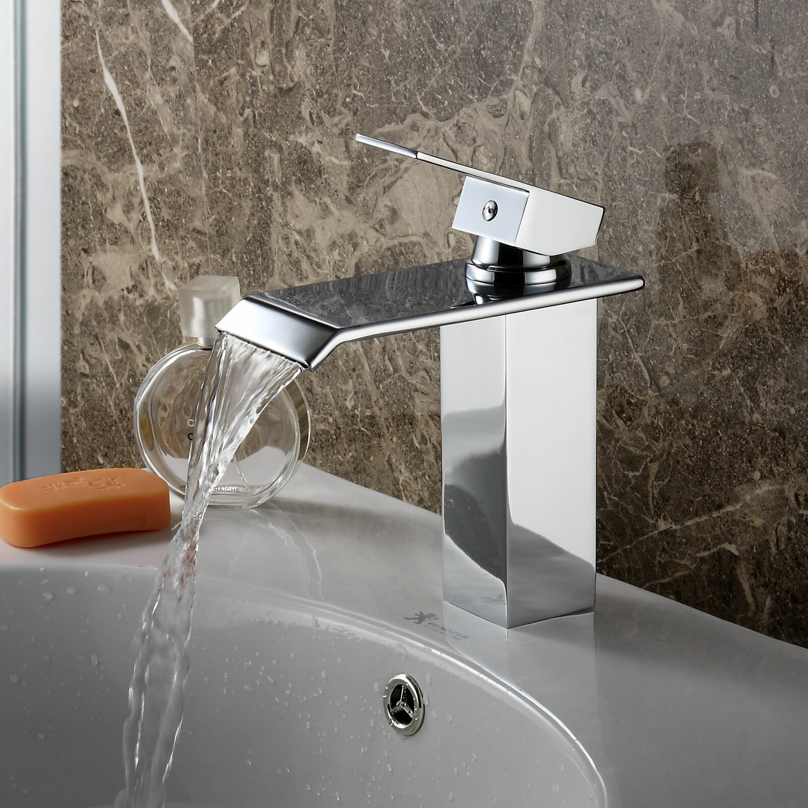 elite single handle bathroom waterfall faucet amp reviews 21358