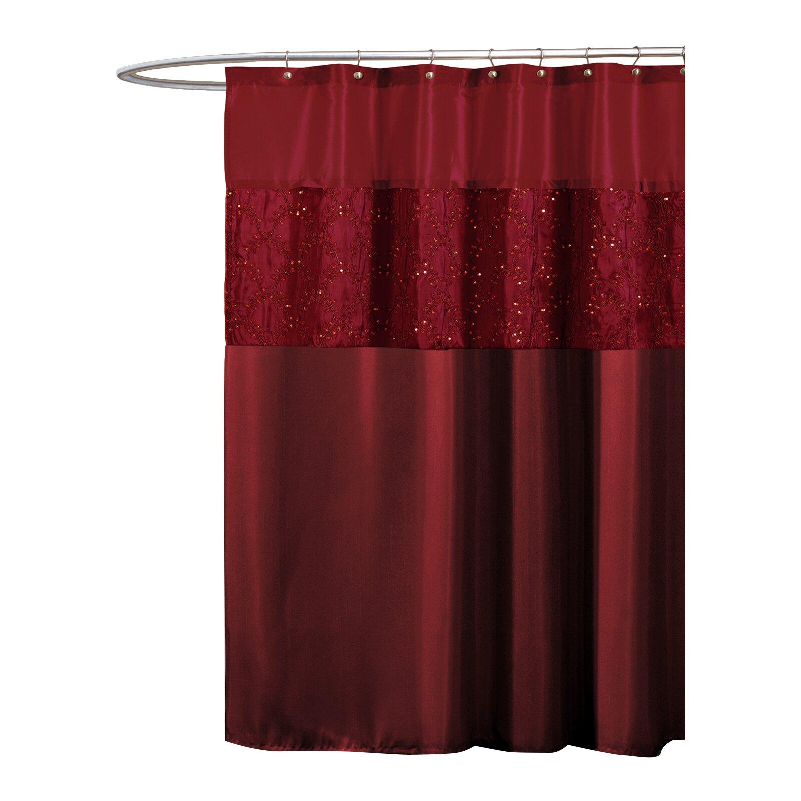 Red shower curtain - Riya Shower Curtain
