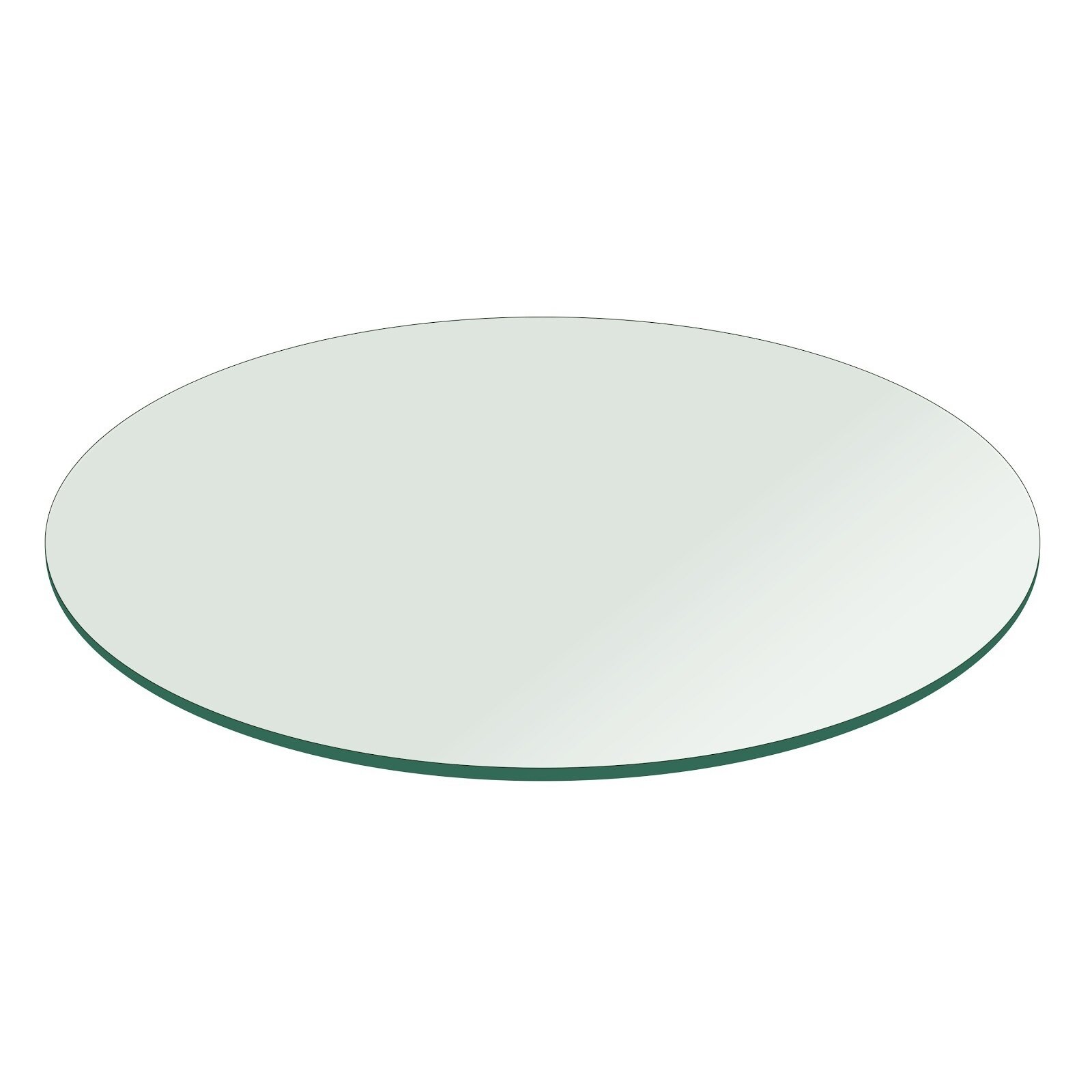 fab glass and mirror round flat polish tempered glass table top wayfair. Black Bedroom Furniture Sets. Home Design Ideas