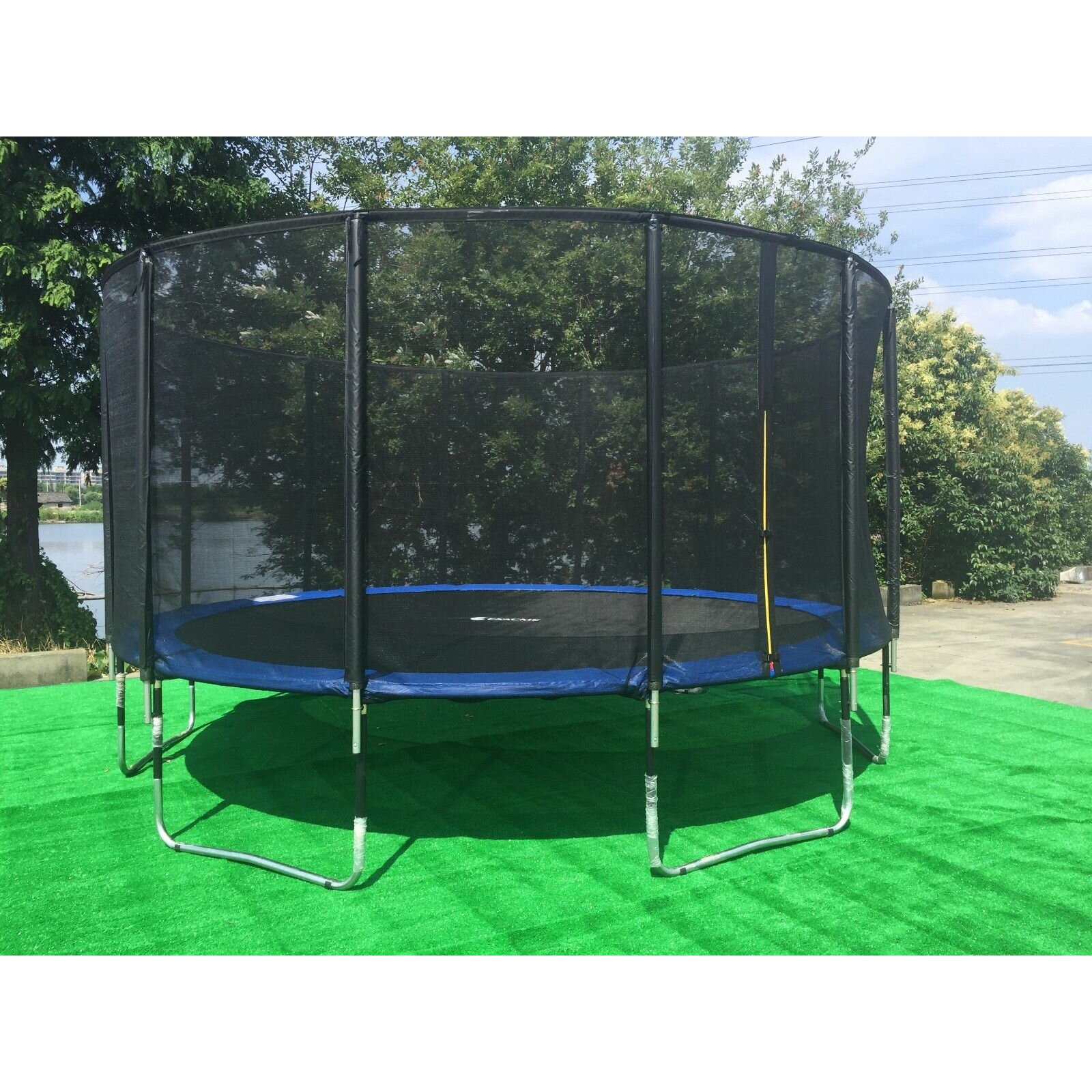 Kidwise Jumpfree 15 Ft Trampoline And Safety Enclosure: Newacme LLC 15' Round Trampoline With Safety Enclosure