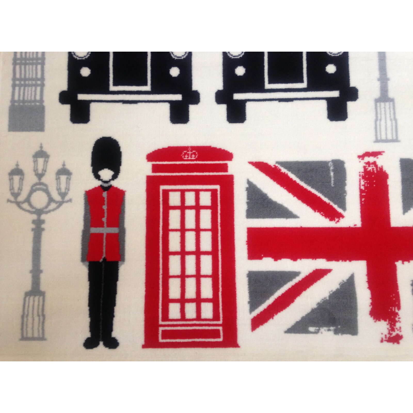 Hokku Designs Teppich Union Jack & London in Bunt  Wayfairde